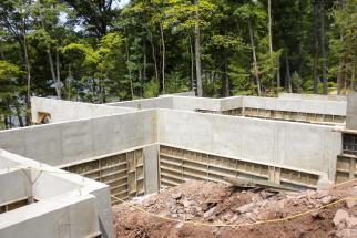 concrete house walls
